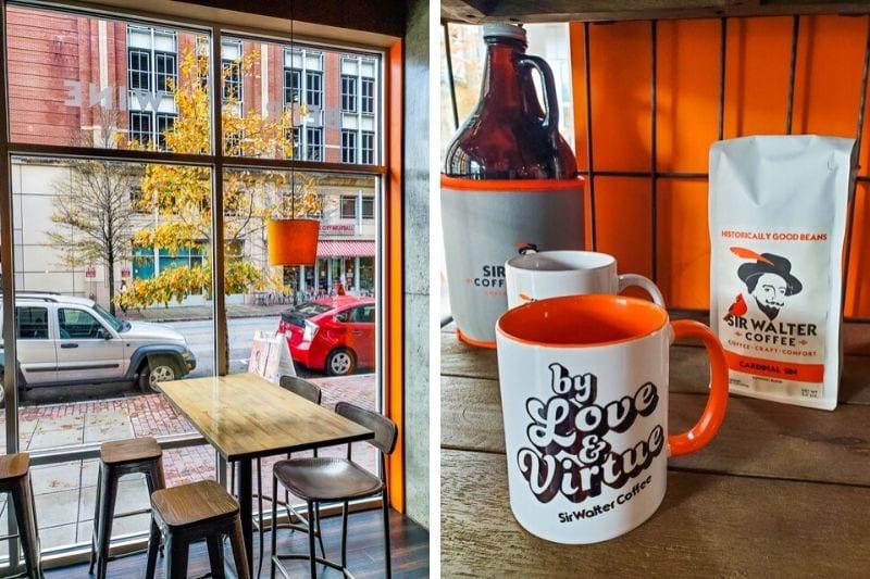 Sir Walter Coffee downtown Raleigh, NC
