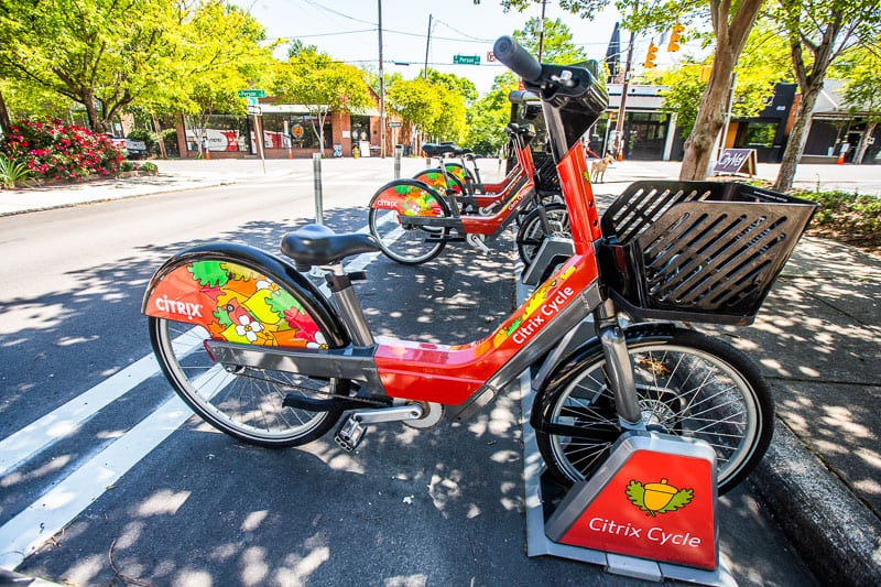 Raleigh bike share program