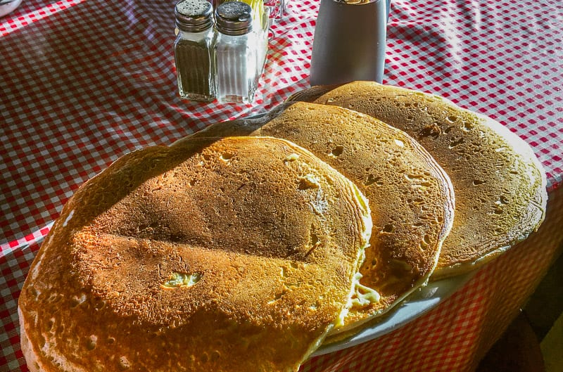 Pancakes at Big Ed's City Market, Raleigh, NC