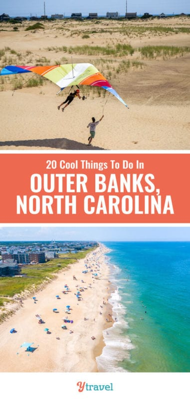 Don't visit North Carolina without considering the Outer Banks. Here you will find some of the best beaches in North Carolina, fresh seafood, wildlife, sunrises and sunsets, and fun for all the family. Here are 20 of the best things to do in the Outer Banks for your Outer Banks vacation.