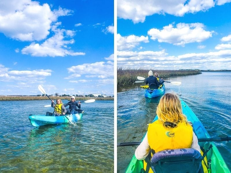 Kayaking in Wrightsville Beach, NC