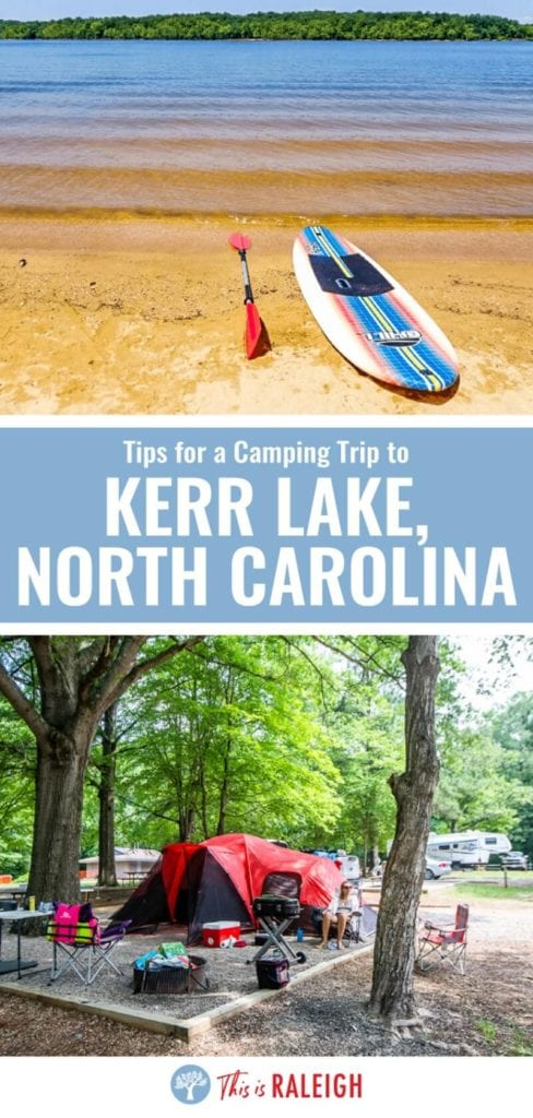 Looking for camping places near Raleigh? Kerr Lake State Recreation Area is our fave camping spot in the Triangle for boating, water sports, and campground fun. Check out our tips.