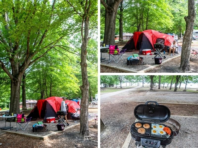 Kerr Lake camping, North Carolina