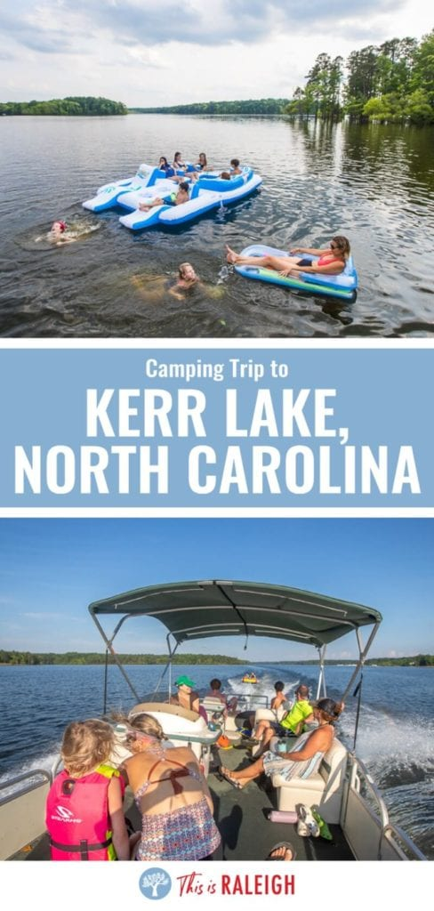 Looking for camping spots near Raleigh? Kerr Lake State Recreation Area is our fave camping spot in the Triangle for boating, water sports, and campground fun. Check out our tips.