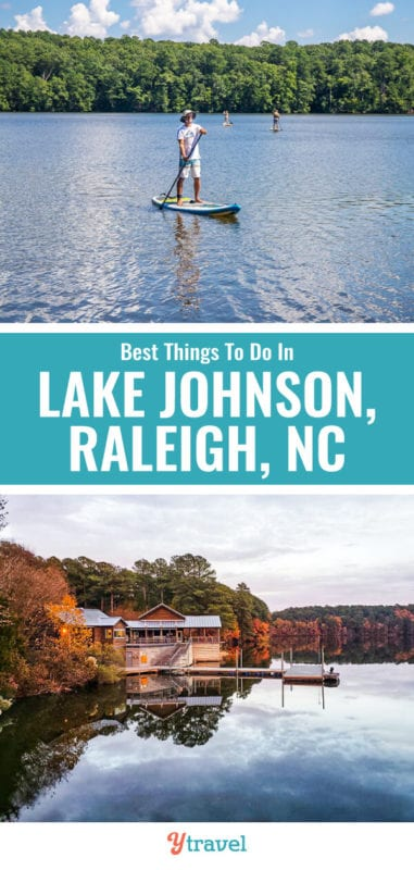 Lake Johnson is one of the best lakes in Raleigh North Carolina. Don't miss the 3-mile loop walk and getting out on the water!