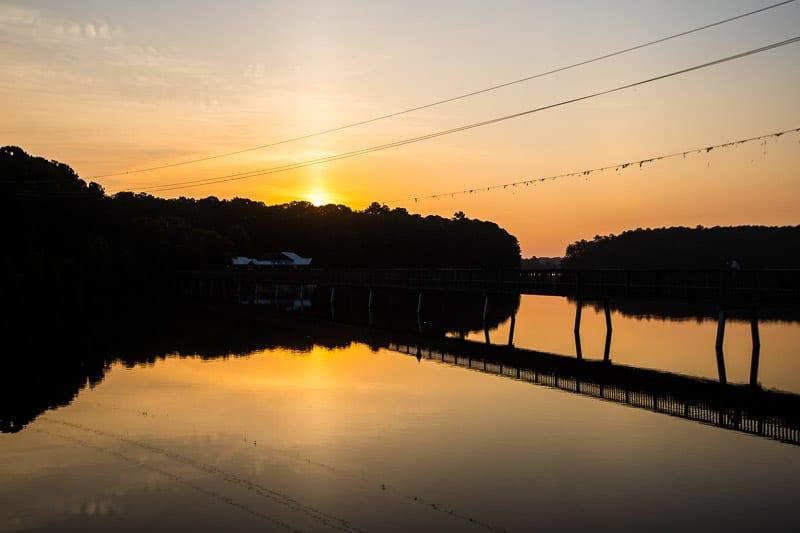 Sunrise at Lake Johnson, Raleigh