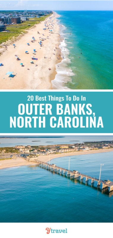 When you visit North Carolina, don't miss the Outer Banks. Here you will find some of the best beaches in North Carolina, fresh seafood, wildlife, sunrises and sunsets, and fun for all the family. Here are 20 of the best things to do in the Outer Banks NC.