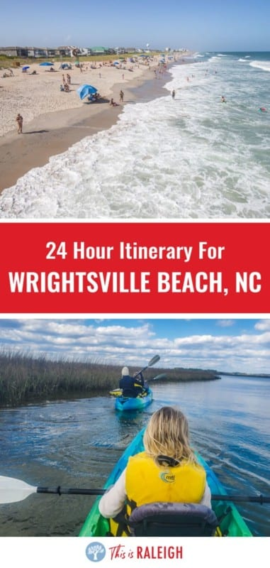 Taking a trip to Wrightsville Beach North Carolina just got easier with this 1 day itinerary with tips on what to do, where to eat breakfast, lunch and dinner, where to park, and much more. Don't take a beach vacation in NC before checking this out.