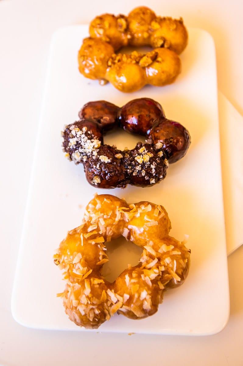 Mochi Donuts, Heirloom Brewshop, Raleigh, NC