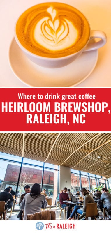 Looking for coffee shops in Raleigh? One of the best coffee spots in Raleigh is Heirloom Brewshop. Check out this review of their drinks, food, and the coffee shops space!