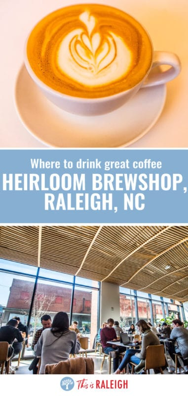 Looking for the best coffee shops in Raleigh? One of the best Raleigh coffee shops is Heirloom Brewshop. Check out this review of their drinks, food, and the coffee shops space!