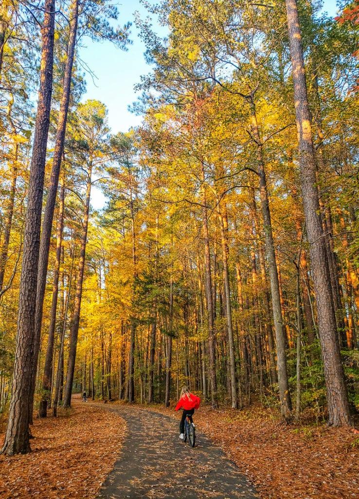 Apex Lake trail, Raleigh, North Carolina
