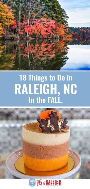 Looking for things to do in Raleigh in the fall? Check out this list of the best fall foliage spots, events, seasonal drinks, pumpkin patches, places to eat, and much more!