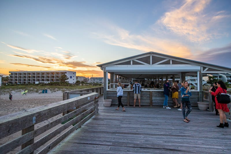 Bar on Crystal Pier - nice spot for sunset drinks