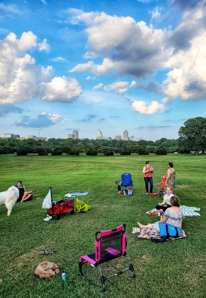 Picnic at Dorothea Dix Park, Raleigh, NC