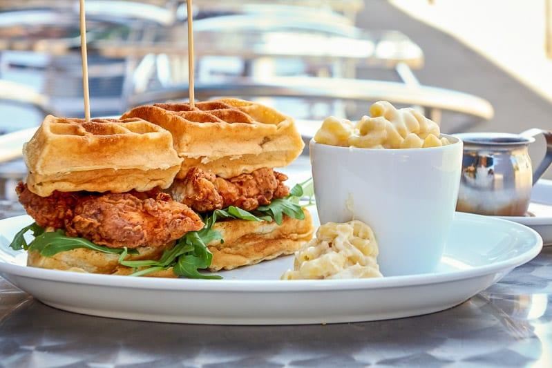 Chicken & Waffle Sandwich at Parkside Restaurant, Raleigh