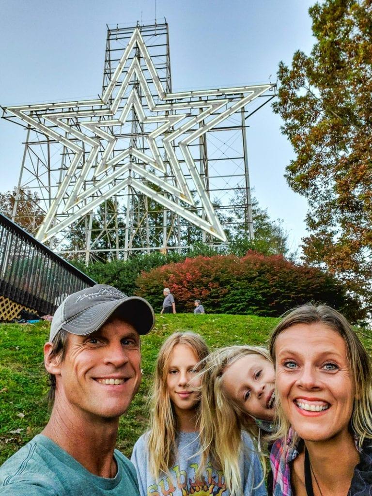 Roanoke Star on Mill Mountain