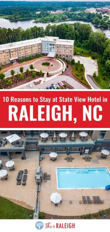 Looking for Raleigh hotels near North Carolina State University? Check out this review of the Stateview Hotel on Centennial campus. It's one of the best hotels in downtown Raleigh whether you visit Raleigh for business or pleasure!