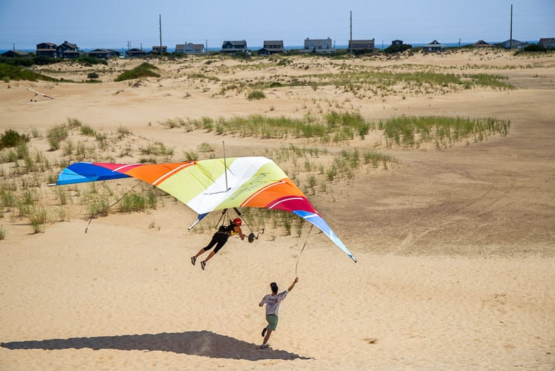 Learning to hang glide at Jockey's Ridge State Park