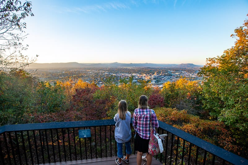 Overlooking downtown Roanoke