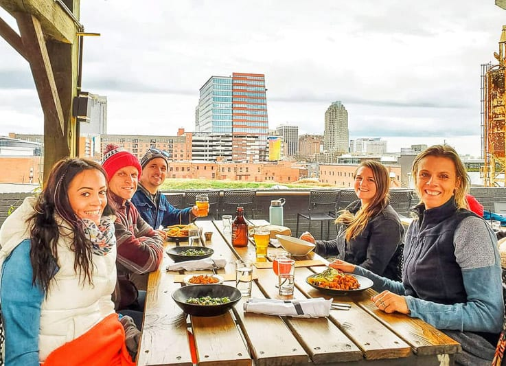 Brunch with a view at Wye Hill Kitchen & Brewing, Raleigh