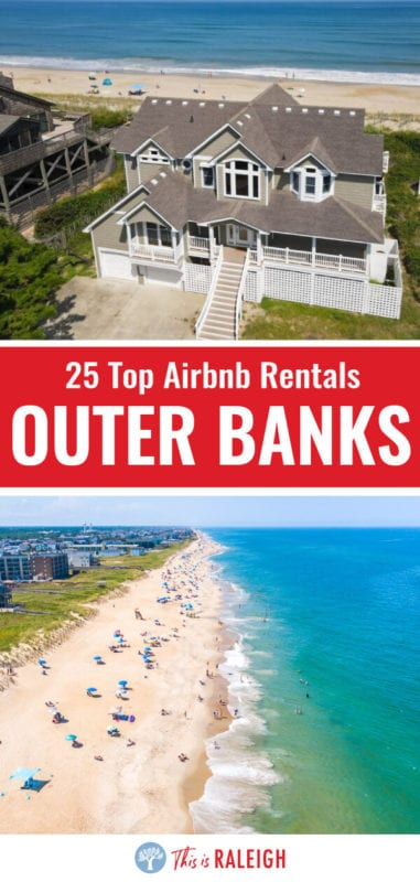If you're thinking about an Outer Banks vacation and looking for great Airbnb Outer Banks rentals, check out this list of 25 cool Airbnb rentals. Don't visit the Outer Banks in North Carolina or book your trip before considering one of these OBX vacation rentals.