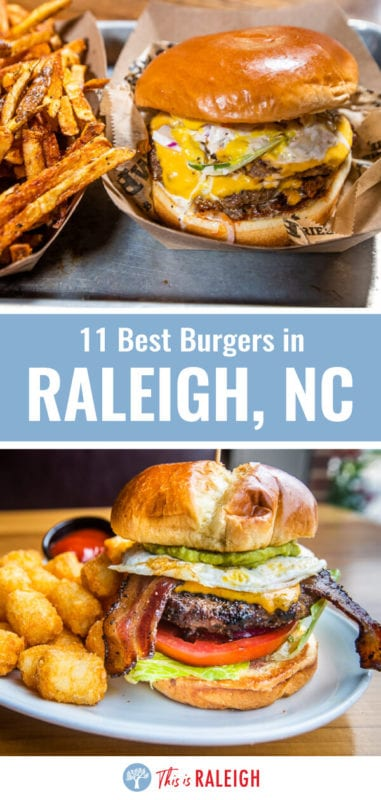 Looking for the best burgers in Raleigh NC? We have taste tested our way around our home city and there is a burger here for everyone. Check out this list of 11 awesome Raleigh restaurants serving up great burgers!