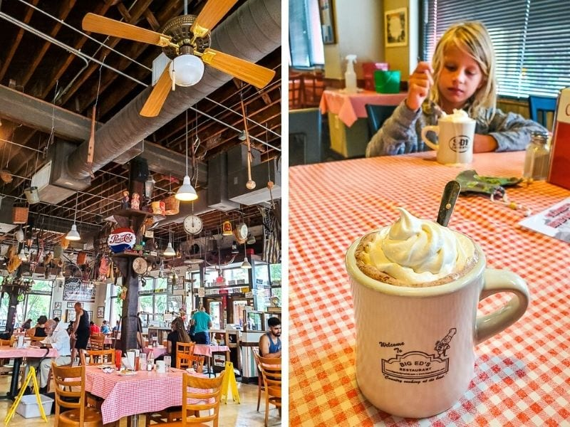 Go to Big Ed's Restaurant in City Market for old school Southern food and hospitality