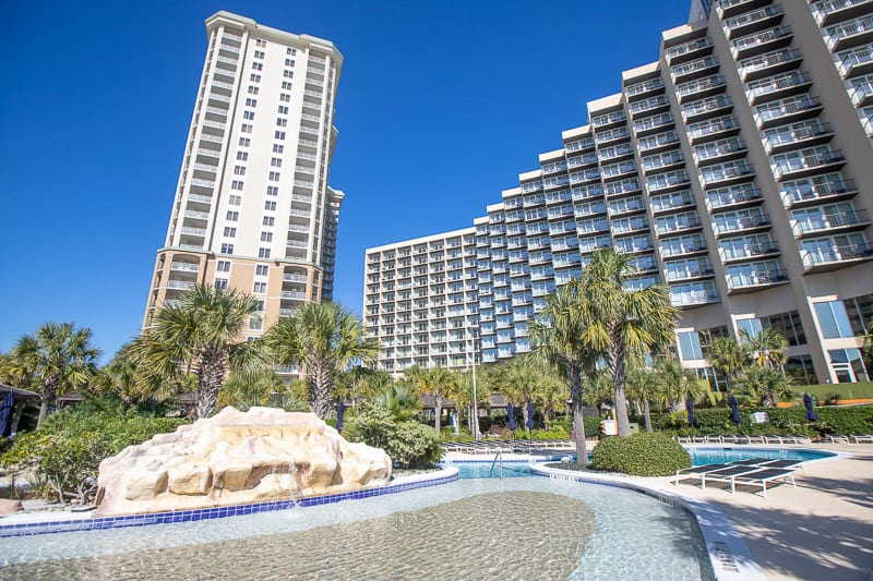 Royale Palms condos on the left / Hilton Myrtle Beach Resort to the right