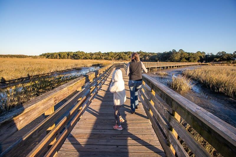 Boardwalk over marsh, Huntington Beach State park