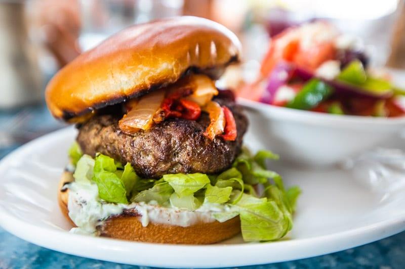 Lamb Burger, Taverna Agora, Raleigh
