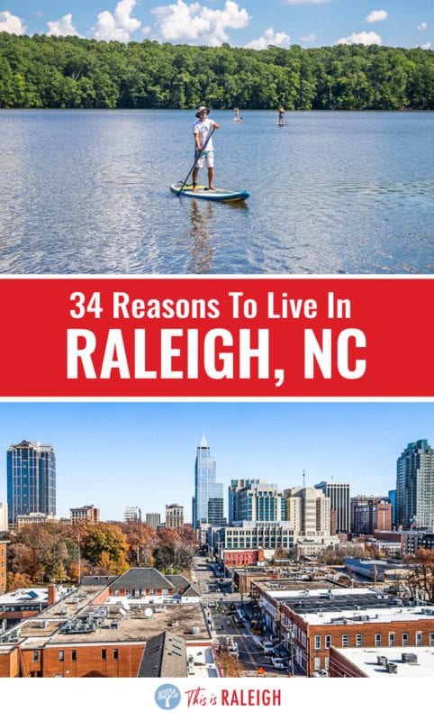 """If you are considering moving to Raleigh, check out this list of 34 reasons why we love living in Raleigh NC and why we call the capital city of North Carolina """"America's best kept secret""""."""