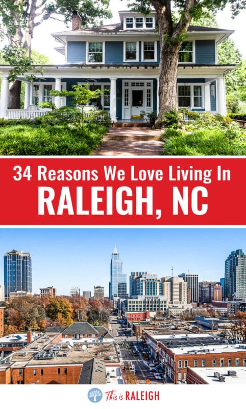 """If you are thinking about movong to Raleigh, check out this list of 34 best things about living in Raleigh NC and why we call the capital city of North Carolina """"America's best kept secret""""."""