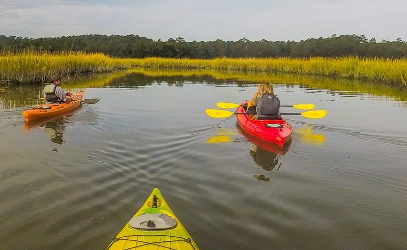 Kayaking through the salt marsh