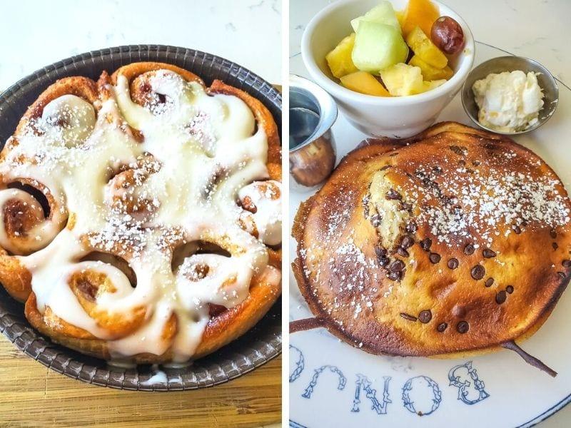Cinnamon bun minis / Pancakes