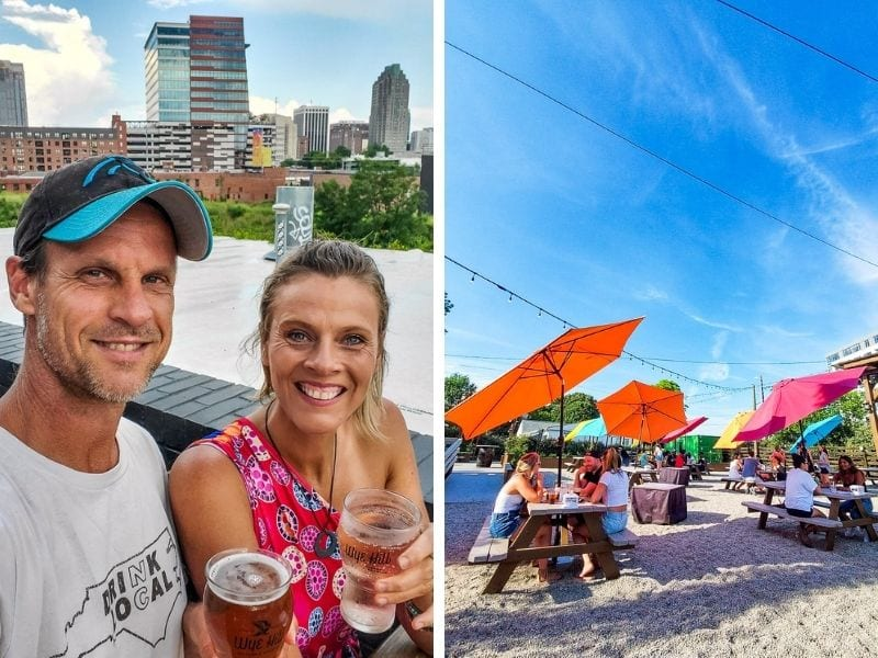 Drinks at Wye Hill / Raleigh Beer Garden