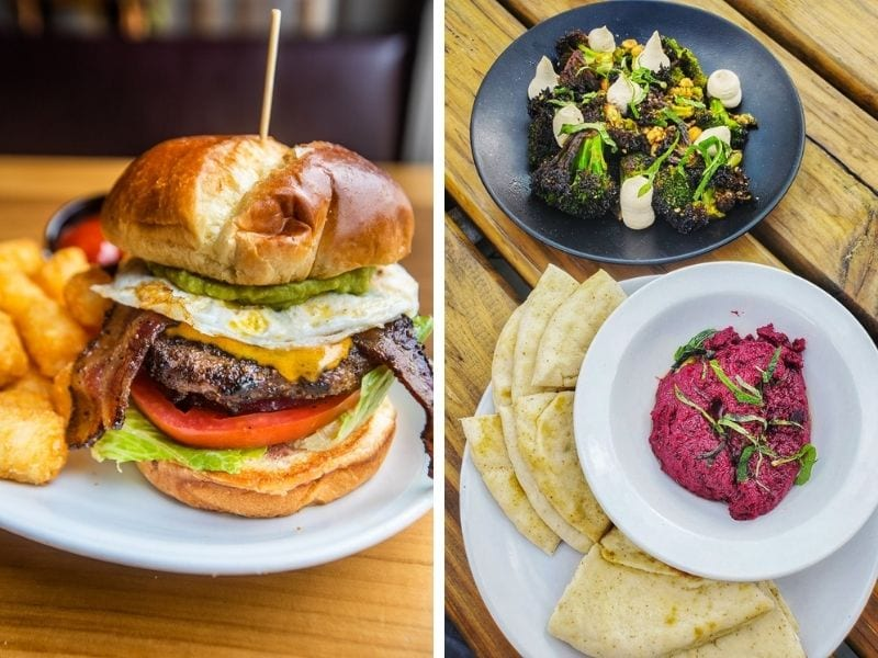 Burger at Parkside Restaurant / small plates at Why Hill Kitchen
