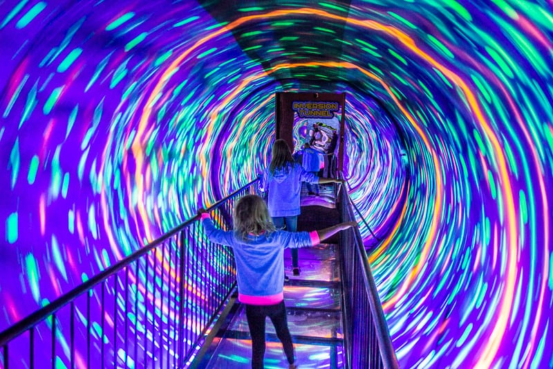 The entrance is trippy