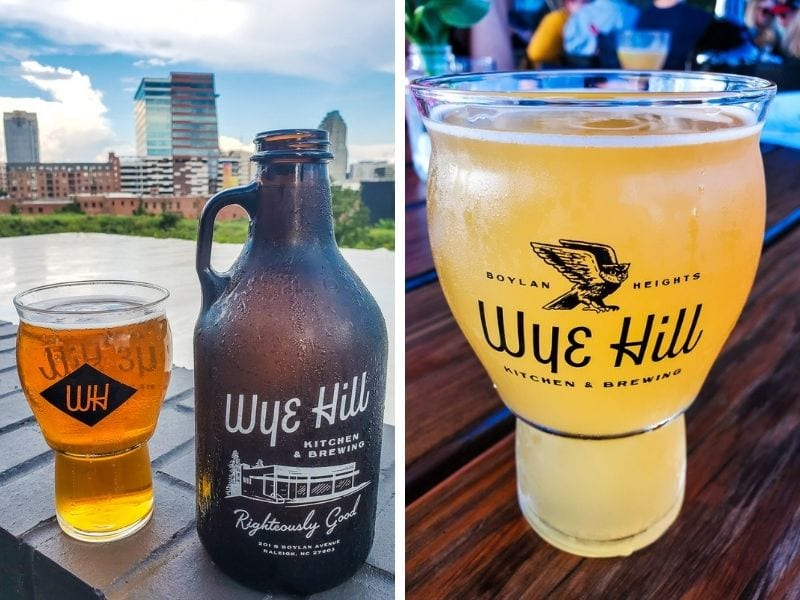Delicious craft beer at Wye Hill