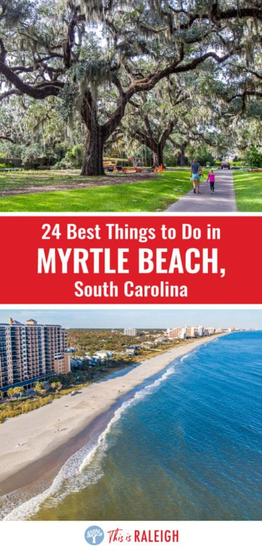 If you are planning a Myrtle Beach vacation, check out this list of 24 things to do in Myrtle Beach South Carolina including tips on best Myrtle Beach attractions, places to eat and drink, and where to stay. Don't visit Myrtle Beach before reading these Myrtle Beach travel tips!