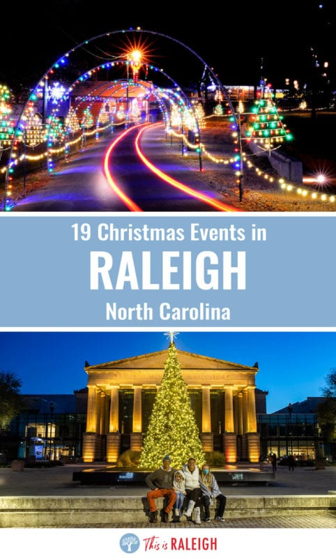 If you are researching Christmas events in Raleigh NC? Check out this list of 19 fun holiday activities in Raleigh for the 2020 holiday season including light shows, getting your photo taken with Santa, holiday-themed cocktails and much more!