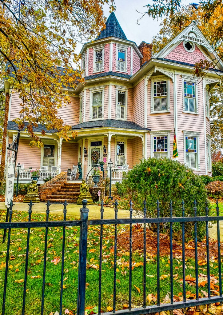 The beautiful Guess-White-Ogle House in downtown Cry, North Carolina