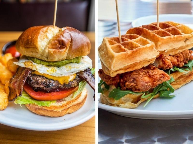 Parkside Burger / Chicken & Waffle Sandwich