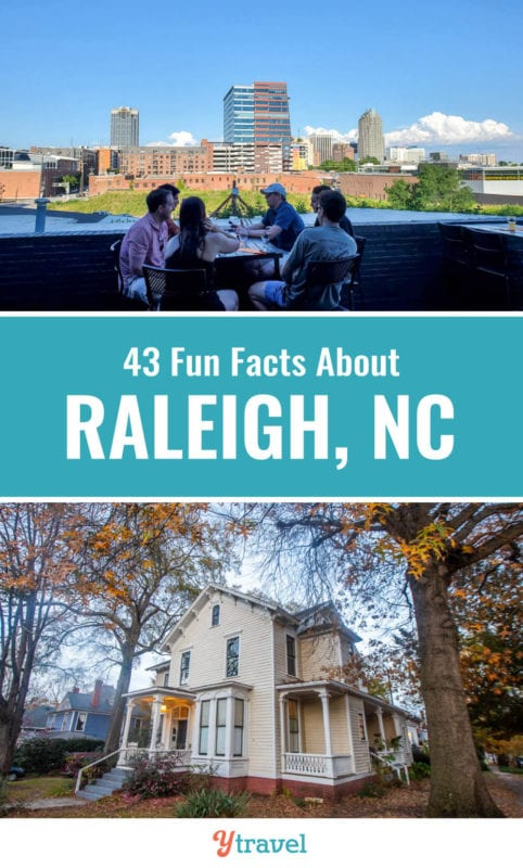 If you are thinking about moving to Raleigh, or visiting Raleigh, check out this list of 43 fun facts about Raleigh, North Carolina and the most frequently asked questions. Don't visit Raleigh before reading these Raleigh travel tips and all about living in Raleigh