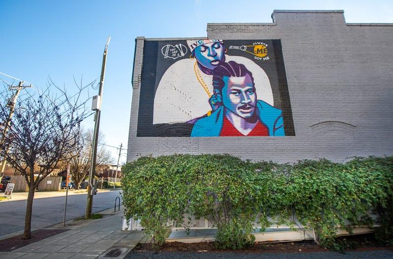 Allen Iverson mural