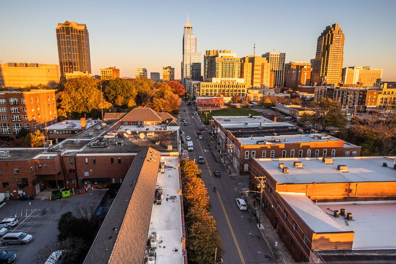 View of Raleigh from top of Dillon Building