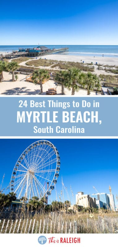 Planning a Myrtle Beach vacation? Check out this list of 24 things to do in Myrtle Beach South Carolina including tips on best Myrtle Beach attractions, places to eat and drink, and where to stay. Don't visit Myrtle Beach before reading these Myrtle Beach vacation tips!