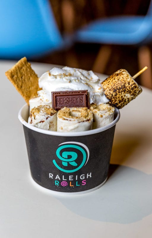 S'mores flavor at Raleigh Rolls