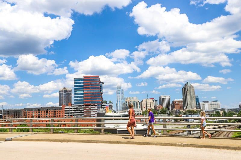 View of downtown from Boylan Bridge