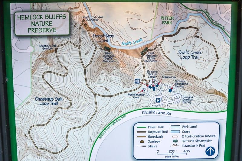 Hemlock Bluffs Nature Preserve, Cary, NC